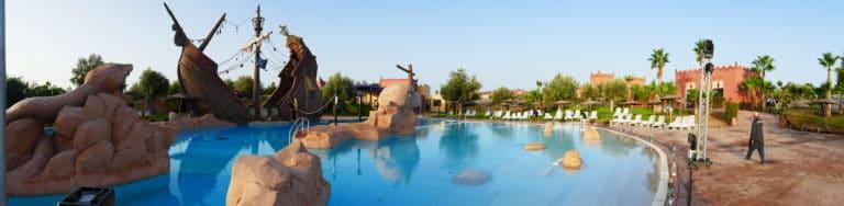 bateau de pirate piscine vizir center marrakech maroc