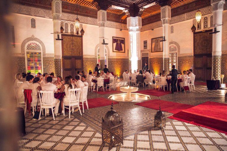 diner en blanc palais soleiman patio lieu evenementiel agence WATO marrakech maroc