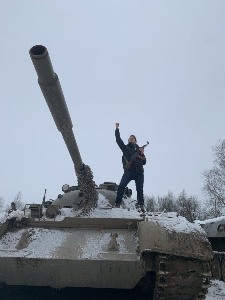 foulques jubert tank T55 reperage saint petersbourg russie