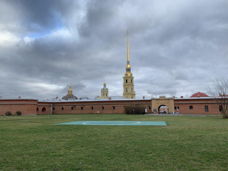 heliport balt airlines herbe verte forteresse pierre et paul saint petersbourg russie