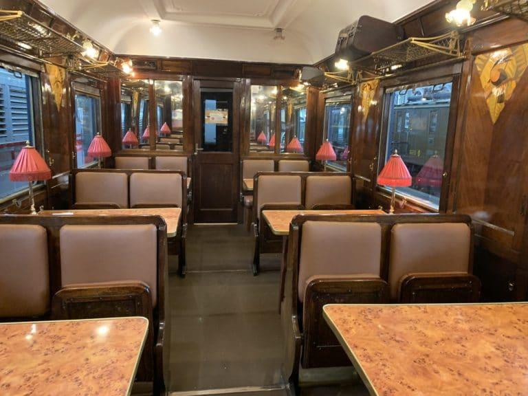 interieur orient express bar museo del ferrocarril madrid espagne