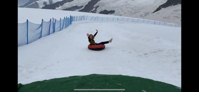 jungfraujoch activite neige glisse bouee