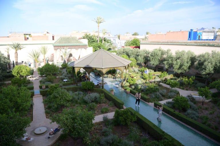 le jardin secret marrakech verdure promenade lieu medina maroc