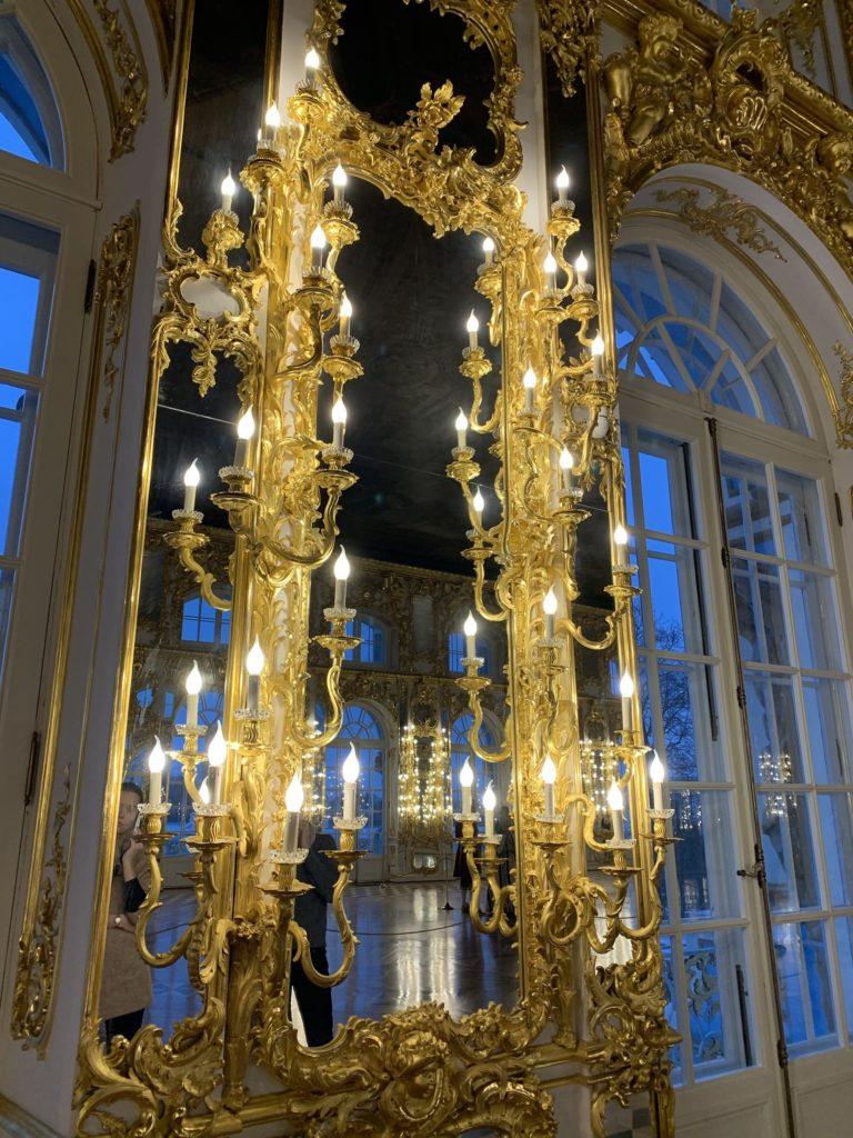 miroir salle de bal palais catherine Saint Petersbourg Russie