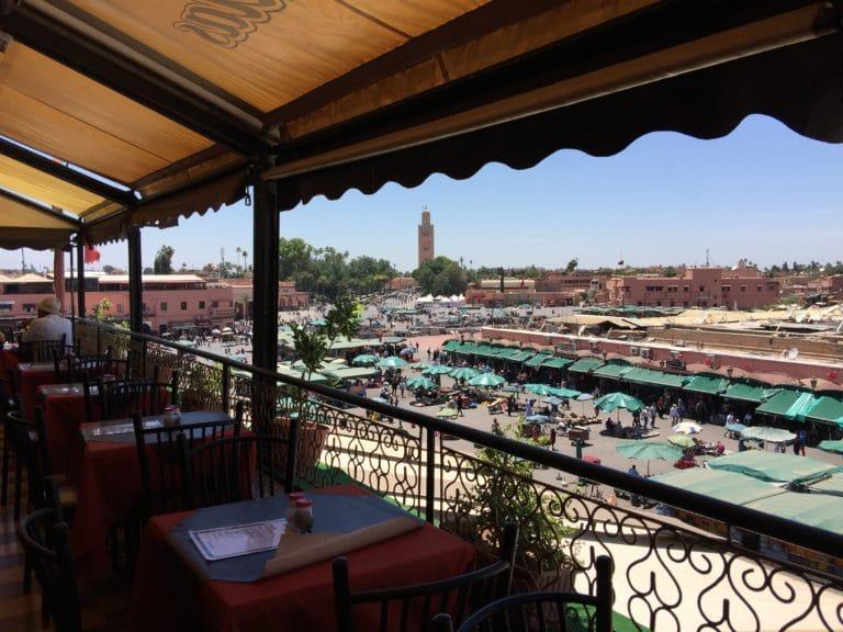 rooftop cafe de france vue place jeema el fna medina de marrakech