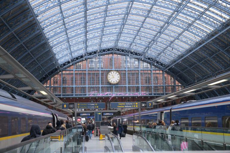 saint pancras railway station eurostar london
