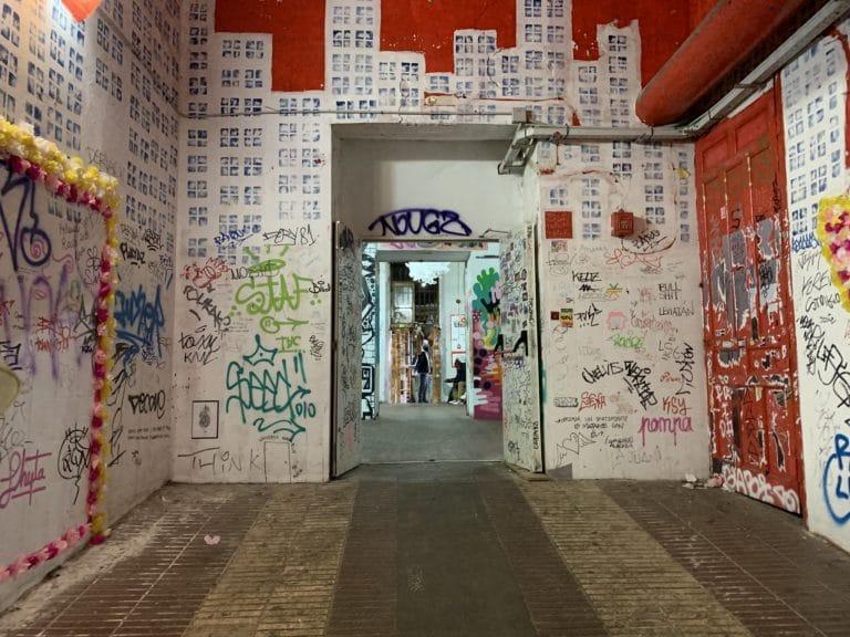 street art interieur tabacalera de lavapies madrid