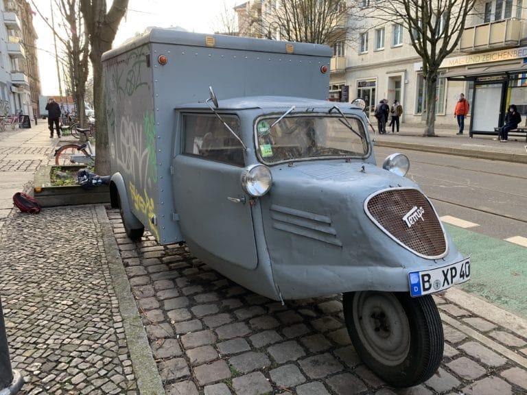 triporteur Tempo Hanseat bleu de 1951 vintage car berlin