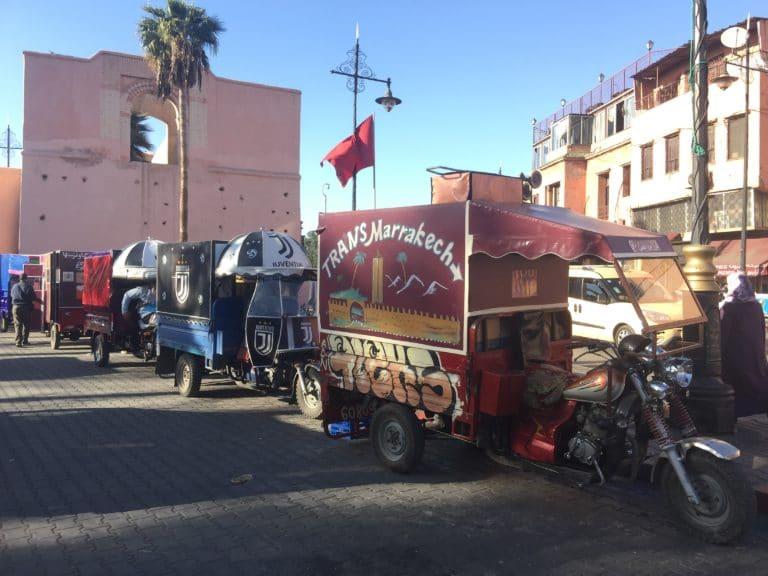 tuk tuk medina marrakech maroc