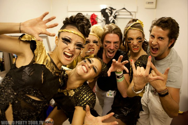 Cocoon girls performers backstage Tomorrowland 2011 world party tour