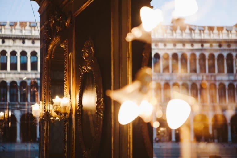 cafe florian venise reflets lumiere effet de style