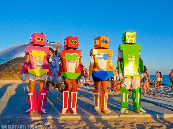 colored robots kazantip republic 2011 world party tour