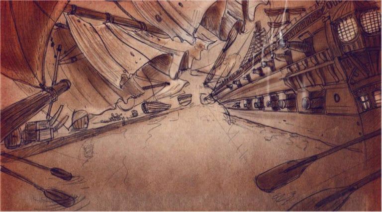 dessin bataille navale lepante rough evenementiel