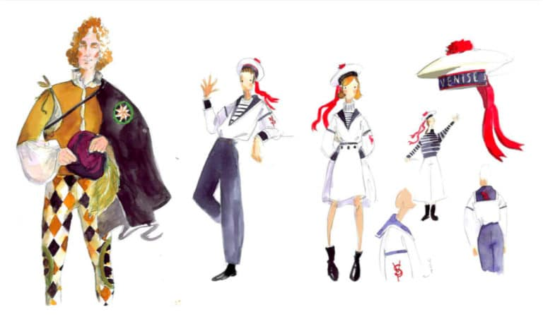 dessin costumes de marin rough evenementiel