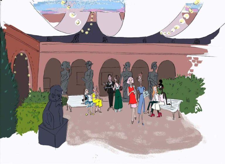 dessin cour musee bourdelle evenementiel