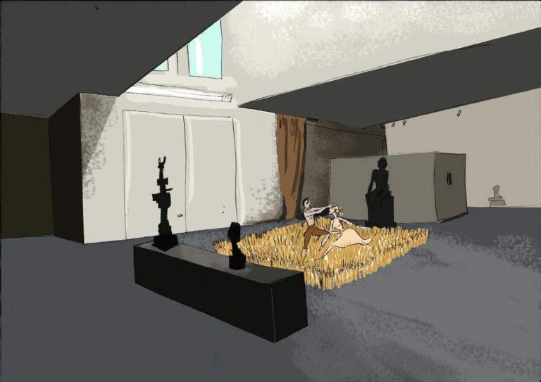 dessin danse champs de ble aile portzamparc musee bourdelle