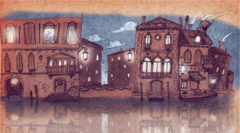 dessin facades venitiennes de nuit venise sous paris rough evenementiel