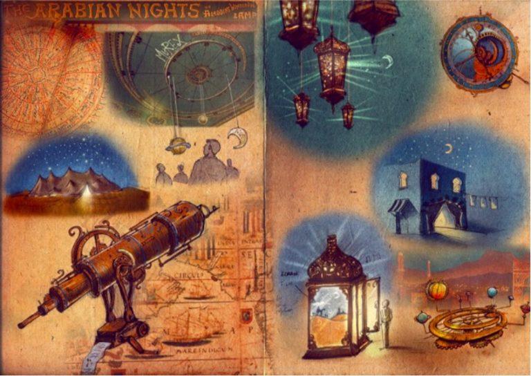 dessin theme 1001 nuits rough evenementiel