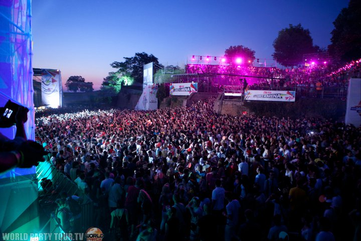 exit festival 2011 dance arena crowd world party tour