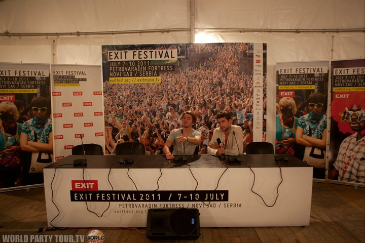 exit festival 2011 press room world party tour