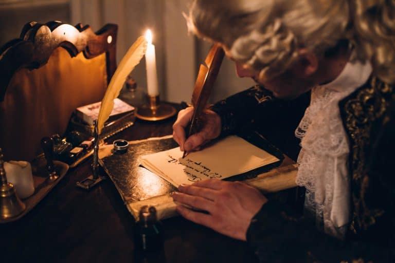foulques jubert costume venitien personnage ecrit lettre mysterieuse a la lueur de la chandelle