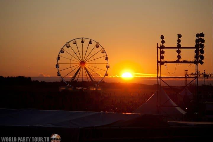 grande roue sunset heineken opener festival poland 2011 world party tour