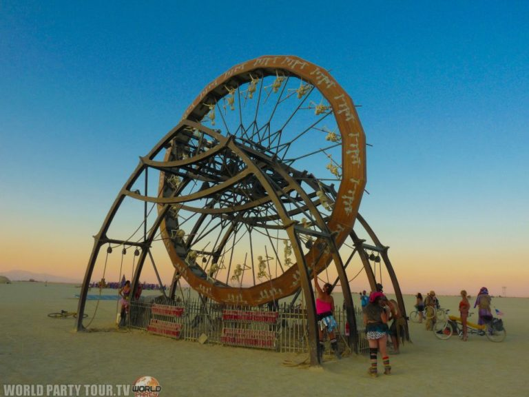 skeleton wheel burning man 2011 world party tour