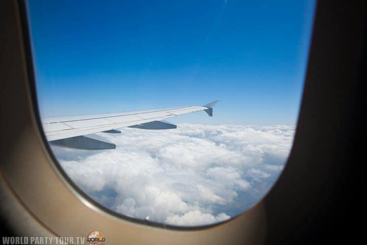 vue interieur avion 2011 world party tour