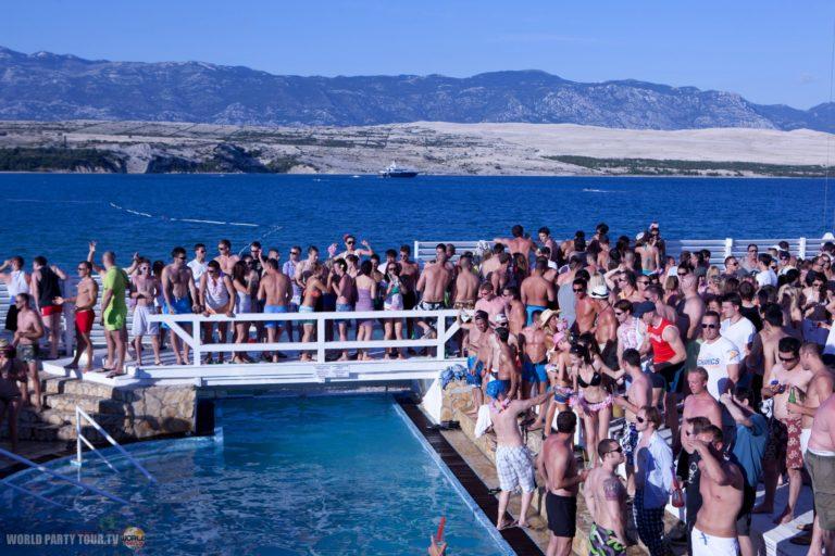 zrce beach 2011 ile de pag croatie world party tour